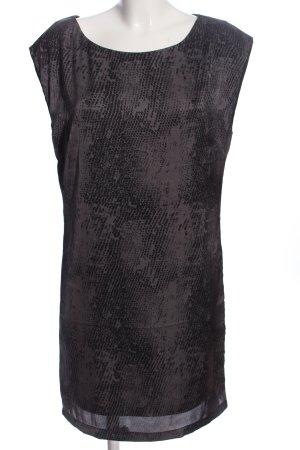 Lerros Robe de soirée gris clair-noir imprimé allover style décontracté