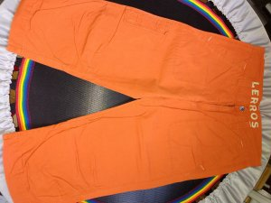 Lerros Pantalon «Baggy» orange foncé