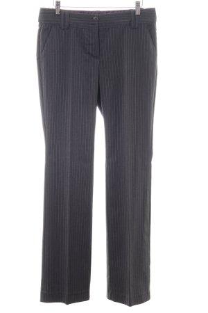 Lerros Bundfaltenhose schwarz-hellgrau Streifenmuster Business-Look
