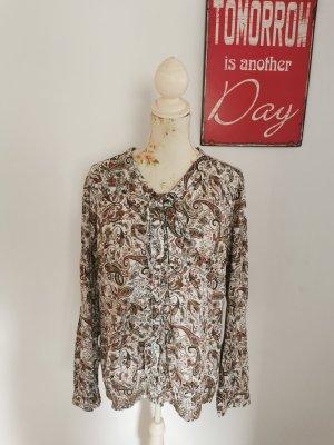 Lerros Damen Langarm Bluse Hemdbluse Rüschen orientalisch Größe 44 NEU