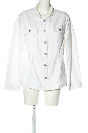 Lerros Veste en jean blanc style décontracté