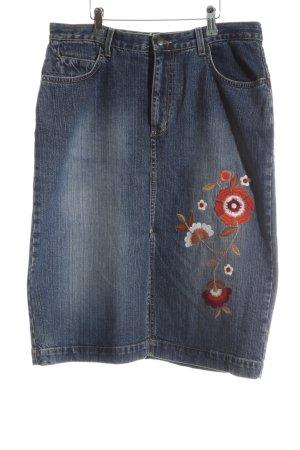 Lerros Jupe en jeans bleu style décontracté