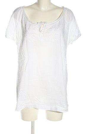 Lerros Blouse à manches courtes blanc style décontracté