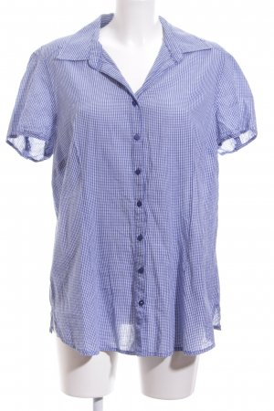 Lerros Short Sleeve Shirt blue-white check pattern casual look