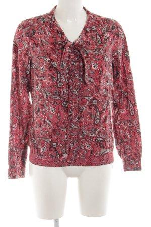 Lerros Langarm-Bluse rot-braun abstraktes Muster Elegant
