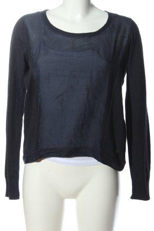 Lerros Langarm-Bluse schwarz Casual-Look