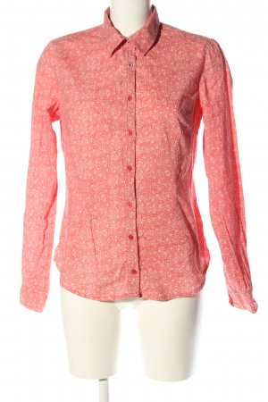 Lerros Langarm-Bluse rot-wollweiß Allover-Druck Casual-Look