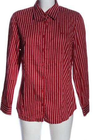 Lerros Langarmhemd rot-weiß Allover-Druck Business-Look