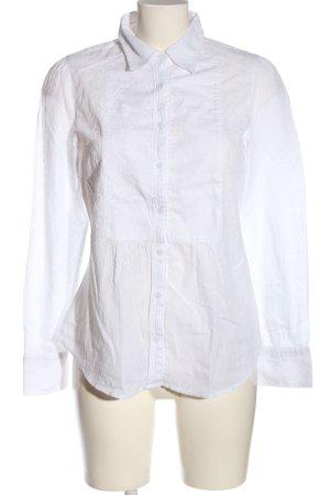 Lerros Chemise à manches longues blanc style décontracté