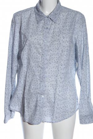 Lerros Chemise à manches longues blanc-bleu imprimé allover