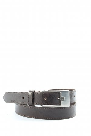 Lerros Cinturón de cuero negro look casual