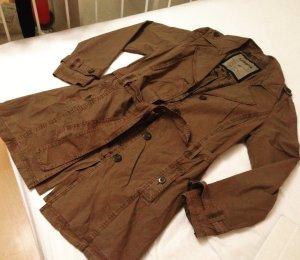 Lerros Veste d'extérieur gris brun-bronze coton