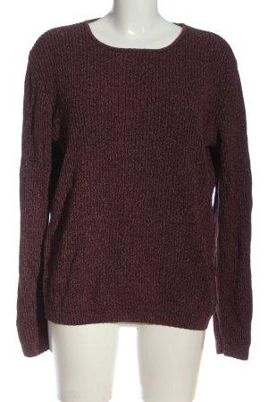 Lerros Pull tricoté brun-gris clair moucheté style décontracté