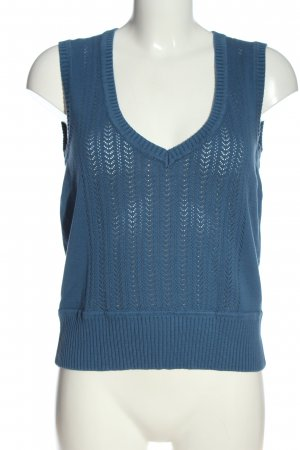 Lerros Gilet tricoté bleu style décontracté