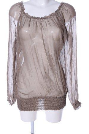 Lerros Blouse transparente brun style décontracté