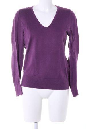 Lerros T-shirt col en V violet style décontracté