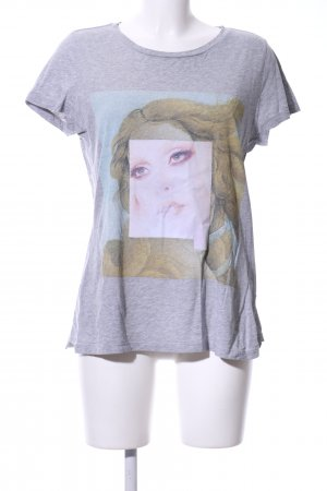 Les Benjamins T-Shirt hellgrau meliert Casual-Look