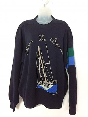 Les Copains Pullover nautical Segeln Men´s Ugly Sweater Gr. 42/44