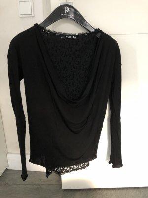 LES COPAINS schwarze Bluse Shirt 2-Teiler Gr. 38