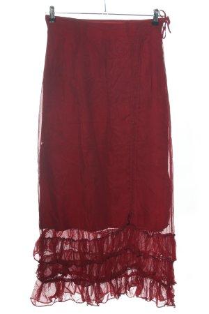 Les Gonzesses de Paris Maxi gonna rosso stile casual