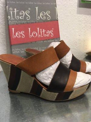 Les Lolitas Sandalias con tacón multicolor Cuero