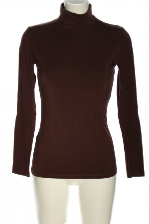Les Lunes Turtleneck Shirt brown striped pattern casual look