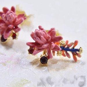 Les Néréides Ear stud gold-colored-pink