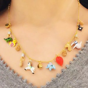 Les Néréides Necklace multicolored