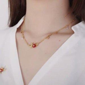 Les Néréides Necklace gold-colored-red