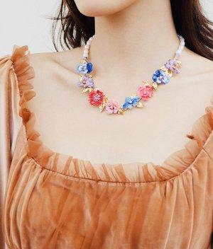 Les Néréides Pearl Necklace multicolored