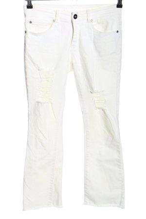 Lesara 7/8 Jeans weiß Casual-Look