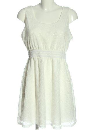 Lesara Robe de cocktail blanc style décontracté