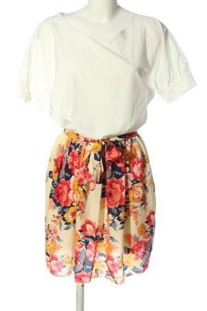Lesara Robe à manches courtes multicolore