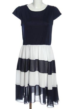 Lesara Kurzarmkleid schwarz-weiß Streifenmuster Casual-Look