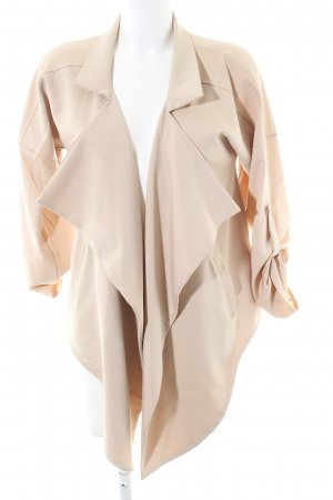 Lesara Oversized Jacke creme Casual-Look