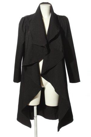 Lesara Abrigo ancho negro look casual