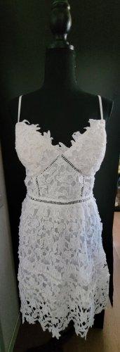 Lesara Robe en dentelle blanc