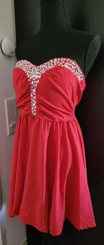 Lesara Robe de cocktail argenté-rouge
