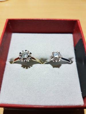 (Lesen)2 GOLDRINGE mit Diamanten 0,25 ct