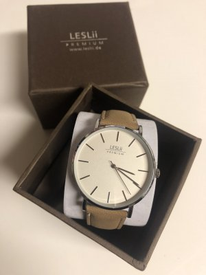 leslii Analog Watch beige-silver-colored