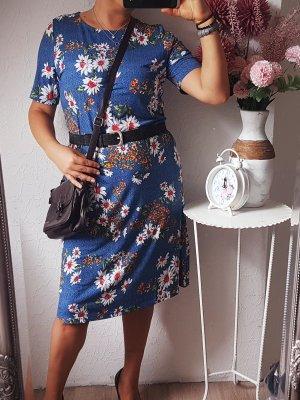 let's dress HSE24 Kleid blau geblümt 38/40/42 NEU