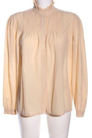 LeTruc Langarm-Bluse creme Elegant