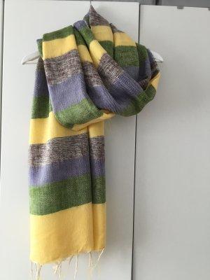 Écharpe en laine multicolore