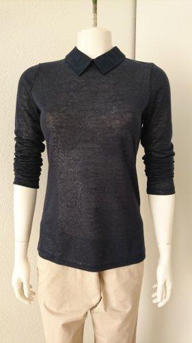 Orsay Gebreid shirt donkerblauw-zilver Polyester