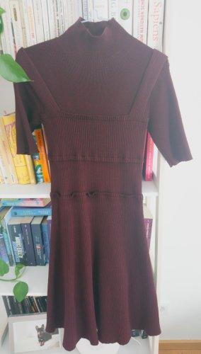 Stretch Kleid Victoria Beckham Weinrot XS 34 36