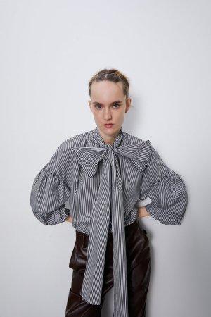 Zara Blouse oversized multicolore coton