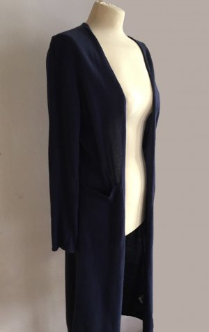 anukoo Long Knitted Vest dark blue cotton