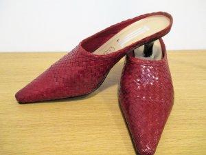 Letzte Preisreduktion#Pantolette#classic red#Flechtwerk