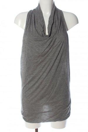 Helmut Lang Top lavorato a maglia grigio chiaro Modal