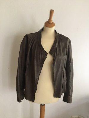 Cigno Nero Leather Jacket brown